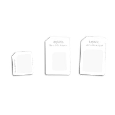 Logilink SIM/flash memory card adapter: Dual Sim Card Adapter - Wit