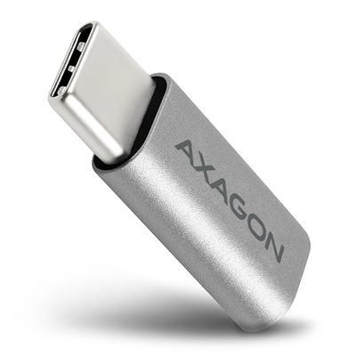 Axagon USB-C M > micro USB F adapter Kabel adapter - Metallic