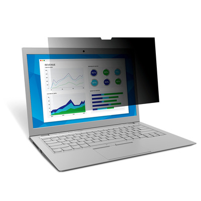 "3M Privacyfilter Microsoft Surface Book 13.5"" (PFNMS001) Schermfilter - Zwart, Doorschijnend"