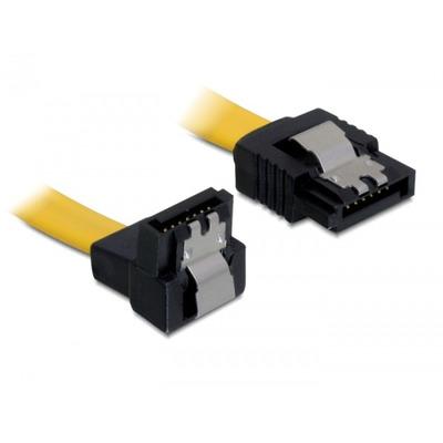 Delock ATA kabel: 0.1m SATA M/M - Geel