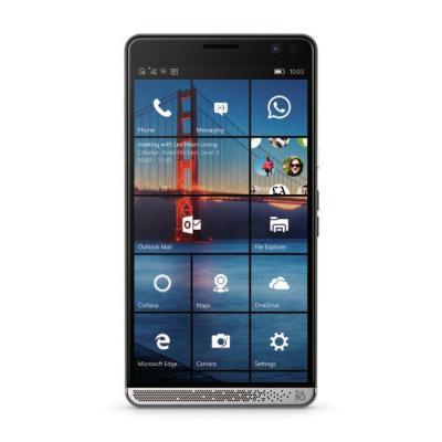 Hp smartphone: Elite x3 - 3-in-1 device + Desk Cradle Dock &  EH001 Headset - Chroom, Grafiet
