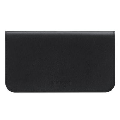Samsung etui voor mobiele apparatuur: Leather Pouch Black voor Galaxy S II