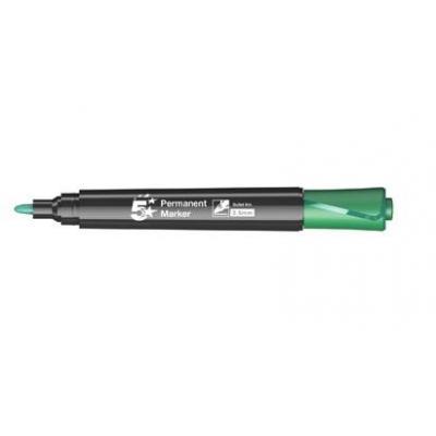 5star verf stift: Round tip permanent marker, 2.5 mm, green - Zwart