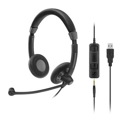 Sennheiser SC 75 USB CTRL Headset - Zwart