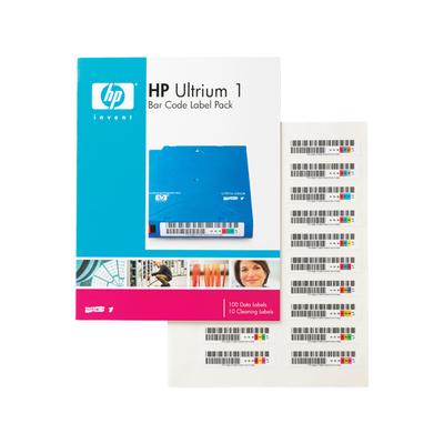 Hewlett Packard Enterprise HP Ultrium 1 Bar Code Label Pack Barcode label