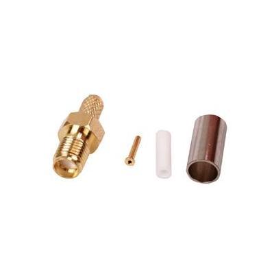 Valueline kabel connector: SMA Female, Gold - Goud