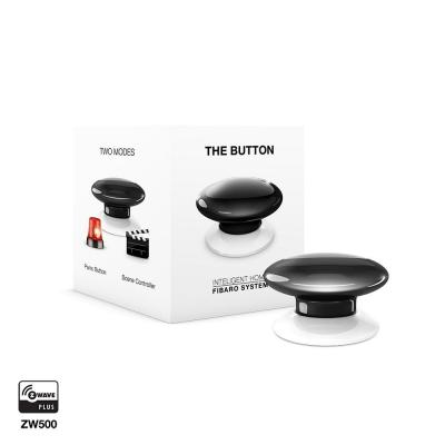Fibaro : The Button - Zwart, Wit