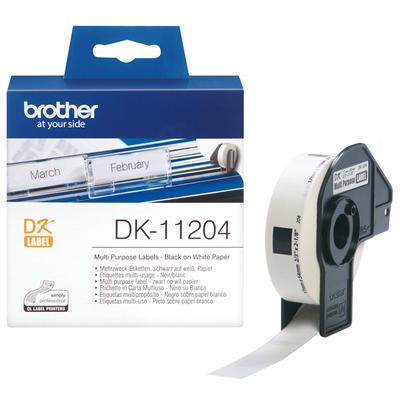 Brother Multifunctionele labels papier 17 x 54 mm Labelprinter tape - Wit