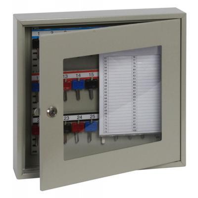 Phoenix sleutelkast: 30 Hook Key, 350 x 380 x 80 mm, Key Lock, 4 kg, Light Grey - Grijs
