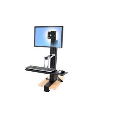 Ergotron bureau: WorkFit-S, Single HD Sit-Stand Workstation - Wit