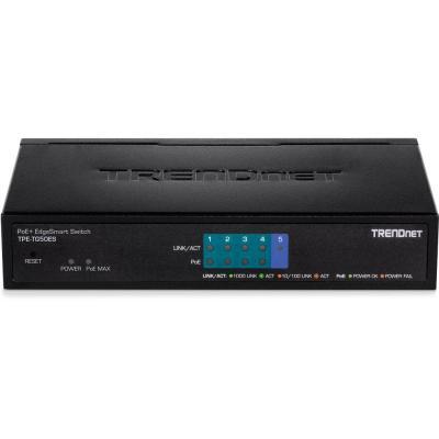 Trendnet Gigabit Ethernet, 4xPoE+, 10 Gbps, 2000 MAC, 110-240V, 50/60Hz, 0.75A, 34W, 150x98x28mm, 380g, Black .....