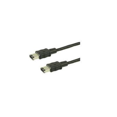 Wentronic fireware kabel: CAK IEEE 1394 6P/6P 1.8m FIRE WIRE - Zwart