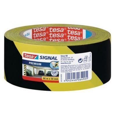 Tesa labelprinter tape: 58130-00000-00 - Zwart op geel