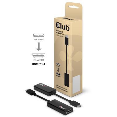 Club3d : USB Type 3.1 C to HDMI™ 1.4a 3D Active Adapter - Zwart