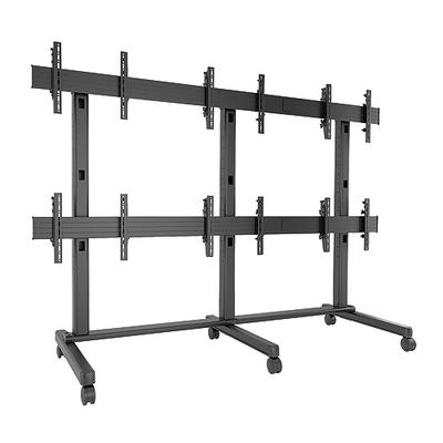 Chief FUSION 3 x 2 Micro-Adjustable Large Freestanding Video Wall Multimedia kar & stand - Zwart