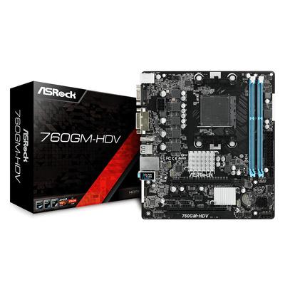 Asrock 760GM-HDV Moederbord