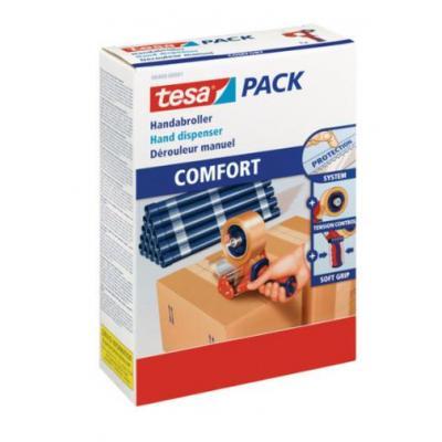 TESA HANDDISPENSER COMFORT Tape afroller - Blauw, Oranje