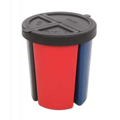 Vepa bins prullenbak: VB 704156 - Zwart, Grijs, Rood