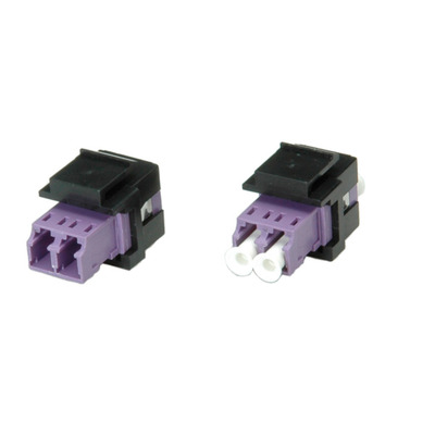 ROLINE Fiber Optic Keystone Jack, LC/LC Duplex, Multimode, OM4 Fiber optic kabel