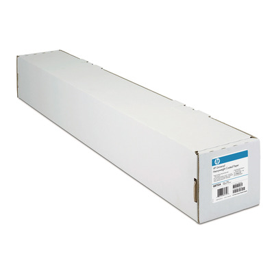 Hp grootformaat media: Papier met coating, extra zwaar, universeel, 120 gr/m², 914 mm x 30,5 m