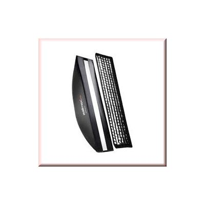 Walimex softbox: pro Softbox PLUS OL 22x90cm Multiblitz P - Zwart, Wit