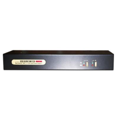 Uniclass 2 Ports, DVI-I, USB 2.0, 3.5mm Audio/Mic Jack, 2560 x 1600 Max, 1.3kg KVM switch - Zwart