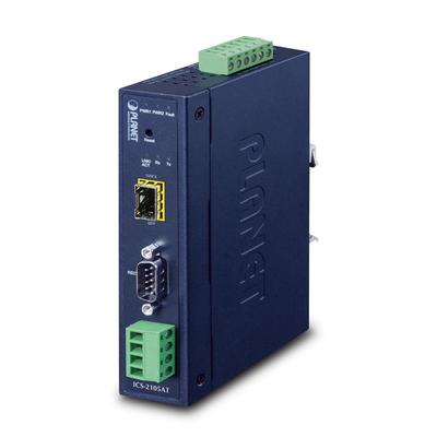 PLANET IP30 Industrial 1-Port Seriele server - Blauw