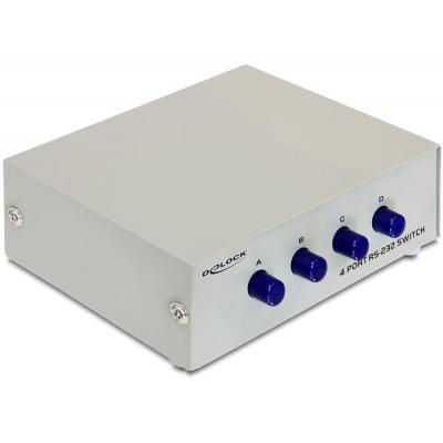 Delock switch: Serial Switch RS-232 4-port manual - Grijs
