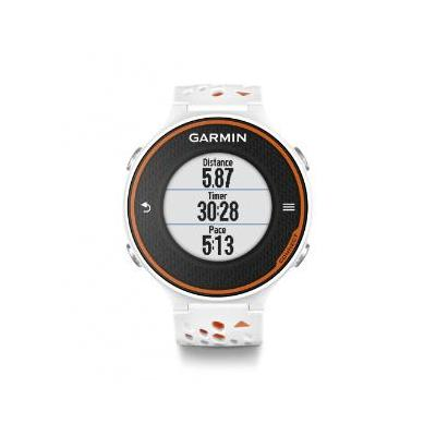 "Garmin sporthorloge: 2.54 cm (1.0 "") , lithium-ion, 1000 laps, VO₂, White/Orange with HRM-Run - Oranje, Wit"