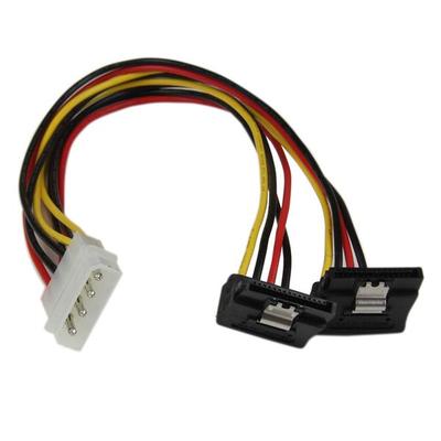StarTech.com 30cm LP4 naar 2x Haakse Vergrendelbare Y-adapter Splitterkabel SATA Voeding 4-pin Molex naar .....