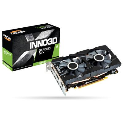 Inno3D N166T2-06D6-1710VA15 Videokaart - Zwart, Grijs