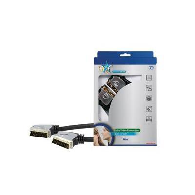 Hq : 10m SCART 21-pin - Zwart