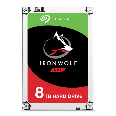 Seagate interne harde schijf: IronWolf 8TB SATAIII, 3.5'', 7200 RPM, 256MB cache