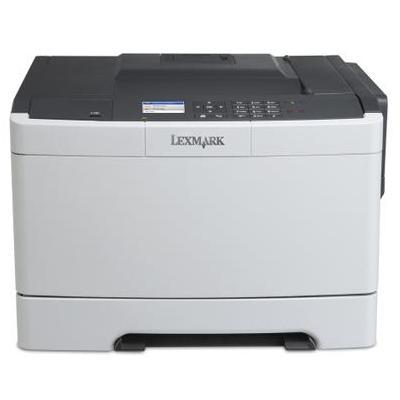 Lexmark laserprinter: CS410dn + 4 jaar garantie na registratie - Zwart, Wit