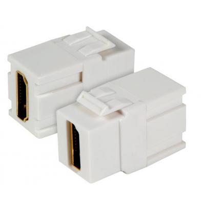 EFB Elektronik Keystone Snap-In Adapter HDMI A - A, white - Wit
