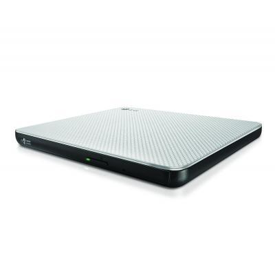 Lg brander: Optical DVD RW 8x Ultra Slim Silver USB2.0 - Grijs