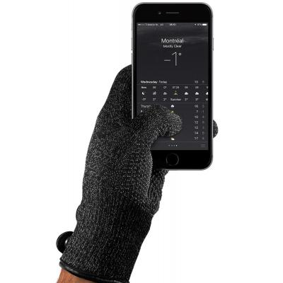 Mujjo : Single Layered Touchscreen Gloves, Size M - Zwart