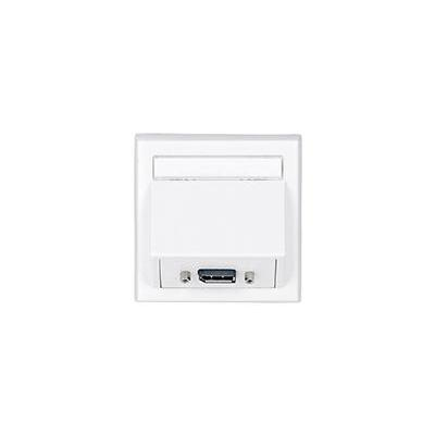 VivoLink Wall Connection Box Displayport, White Wandcontactdoos - Wit