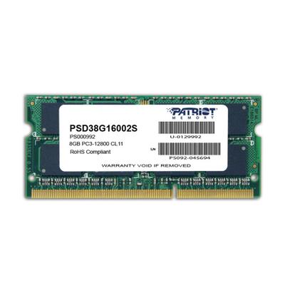 Patriot Memory 8GB PC3-12800 RAM-geheugen