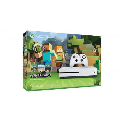 Microsoft spelcomputer: Xbox One S Minecraft Favorites Bundle (500 GB) - Wit