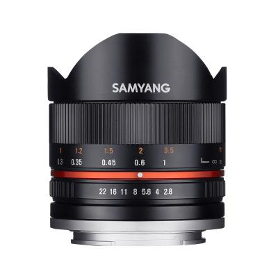 Samyang 8mm F2.8 UMC Fish-eye II Camera lens - Zwart