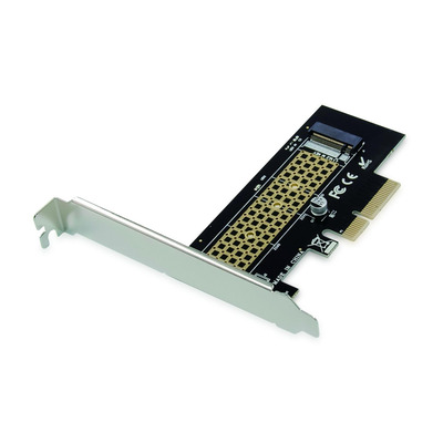 Conceptronic EMRICK M.2 NVMe SSD PCIe Adapter Interfaceadapter - Zwart,Roestvrijstaal