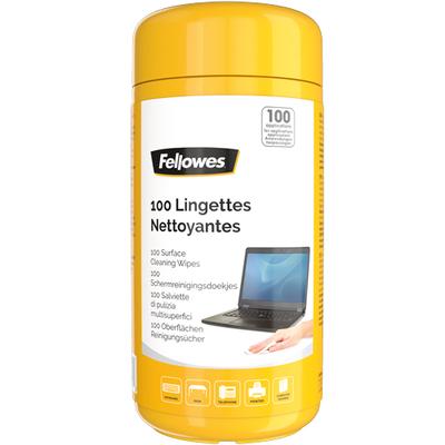 Fellowes 100 Oppervlakte reinigingsdoekjes ( dispenser ) Reinigingskit - Multi kleuren