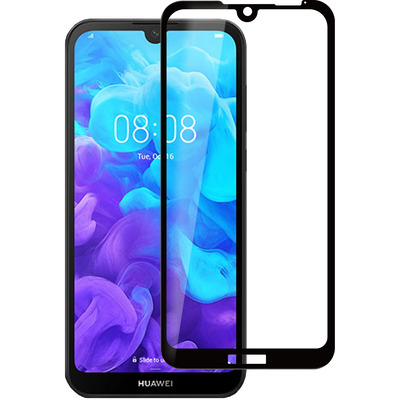 ESTUFF Huawei Y5 (2019) Screen protector - Zwart,Transparant