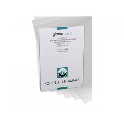 Schoellershammer schrijfblok: Tekenpapier transp. A4 80g/blok 50v