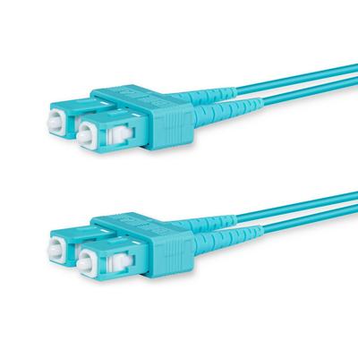 Lanview 2 x SC - 2 x SC Multimode fibre cable, OM3, 50 / 125 µm, LSZH, Aqua, 3 m Fiber optic kabel - Aqua-kleur