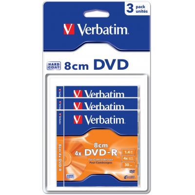 Verbatim DVD: DVD-R 8cm Matt Silver Hardcoated