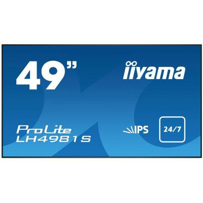Iiyama public display: ProLite LH4981S - Zwart