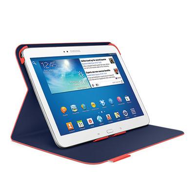 Logitech tablet case: Folio Protective Case, Samsung Galaxy Tab 3 10.1 - Oranje, Rood