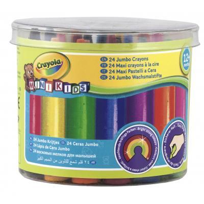 Crayola : Mini Kids - 24 Dikke waskrijtjes - Multi kleuren